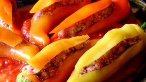 Natural Fit Stuffed Banana Peppers